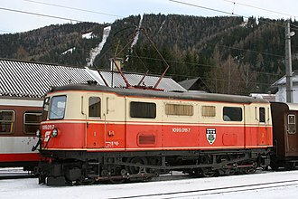 Mariazell Railway - An original 1099-series locomotive, albeit in rebuilt form, at Mariazell station