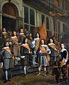 Officieren en Vaandrig van het Haagse Oranje vendel, 1660.jpg