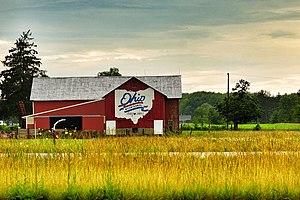 Barn advertisement - An Ohio Bicentennial barn in Ashtabula County