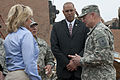 Oklahoma Gov. Mary Fallin, left foreground, visits with area residents and Oklahoma National Guardsmen in tornado-damaged Moore 130528-Z-TK779-005.jpg