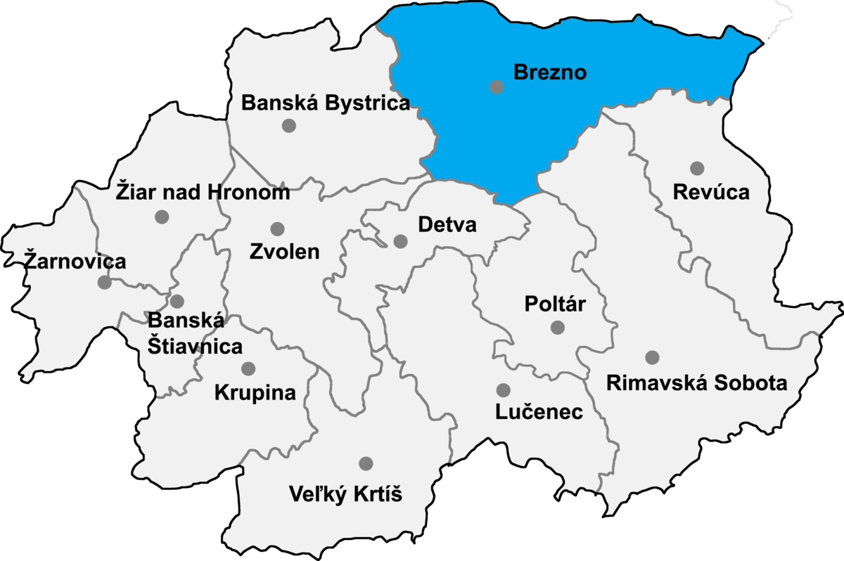 Bildergebnis für brezno nad Hronom mapa