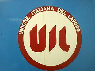 Il vecchio simbolo della UIL utilizzato fino ai tardi anni ottanta del secolo scorso.