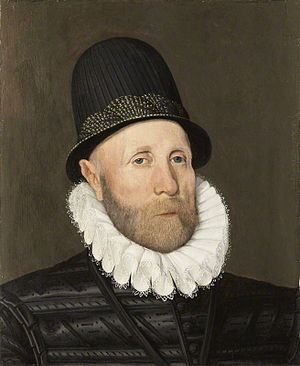 Arnold Bronckorst - Oliver St John, 1st Baron St John of Bletso, signed and dated 1578 by Arnold Bronckorst