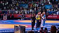 Olympic Freestyle Wrestling at Excel - 96kg Gold Medal Winner - Victory Ceremony 003.jpg