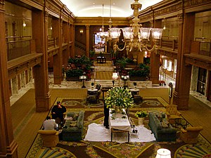 Metropolitan Tract (Seattle) - Lobby of the Fairmont Olympic Hotel, in the Metropolitan Tract.