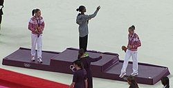 Olympic women's individual all-around artistic gymnastics medal ceremony (cropped).jpg