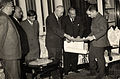 Omar Elwary the Mayor of Jerusalem visiting King Hussein to discuss establishing the Law Union in 1955..jpg