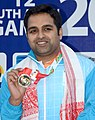 Omkar Singh of India won Gold Medal in Men's 10m Air Pistol Shooting, at the 12th South Asian Games-2016, in Guwahati on February 13, 2016.jpg