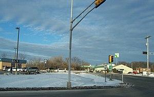 Oneida, Wisconsin - Looking north at Oneida from Highway 54