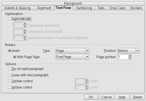 OpenOffice.org2.3 Format Paragraph (Text Flow-Breaks).png