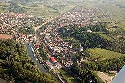 Aerial photograph of Oppenheim, Rhineland-Palatinate, Germany