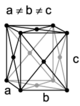 Orthohombic, face-centered