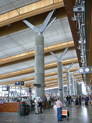 Transport in Norway - Oslo Airport, Gardermoen, Norway's main airport.