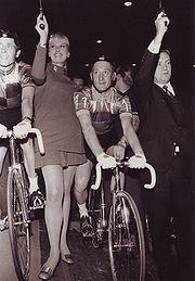 Otto Bennewitz und Barbara Valentin 6 Tage-Rennen Berliner Sportpalast 1968
