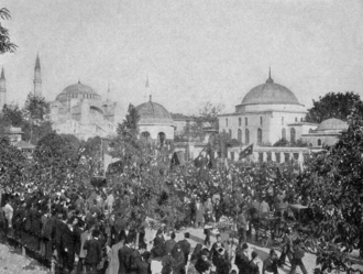 Greece in the Balkan Wars - Demonstration against the Sultan in Constantinople, 1908