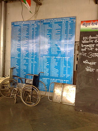 Thane railway station - Out station train infoboard at Thane Station