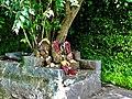 Outside tree shrine with idols at Jain Temple and Monastery Beltangadi Karnataka.jpg