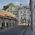 Overzicht middenrisaliet met links de Beyerenkameren in de Lange Nieuwstraat - Utrecht - 20336918 - RCE.jpg