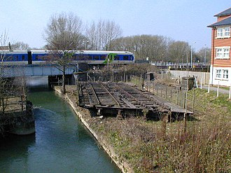Sheepwash Channel - Image: Oxford LNWR Swing Bridge geograph.org.uk 95063