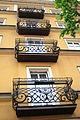 Ozdobne balkony na kamienicy rynku w Chojnicach - IMG 4725.JPG