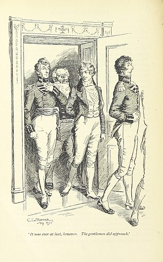 George Wickham - Mr Wickham was more personable than the other officers. (C. E. Brock, 1895)