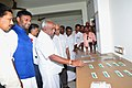 P. Radhakrishnan visiting the laboratory after inaugurating the Pradhan Mantri Kaushal Kendra (PMKK), an initiative of Ministry of Skill Development & Entrepreneurship, at ST Hindu College, in Nagercoil, Tamil Nadu.jpg