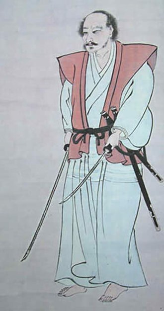 Japanese literature - Self-Portrait by Miyamoto Musashi (1584–1645), a swordsman, writer, and artist, and the author of Go Rin no Sho (The Tale of Five Rings).