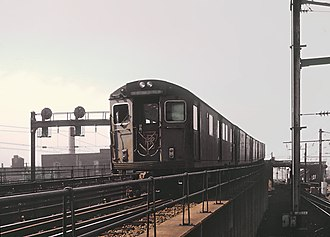 PATH (rail system) - PATH train at Newark Penn Station on September 2, 1966