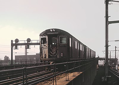 PATH train at Penn Station Newark, NJ on September 2, 1966 (slide mount stamped Feb 1966) (26080894656).jpg