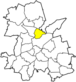 Location of Wielopole within Rybnik