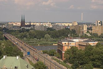 Śląsko-Dąbrowski Bridge - Image: POL Warsaw Slasko Dabrowski trasawz