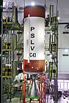 PSLV C43 - HySIS launch campaign, second stage being readied.jpg