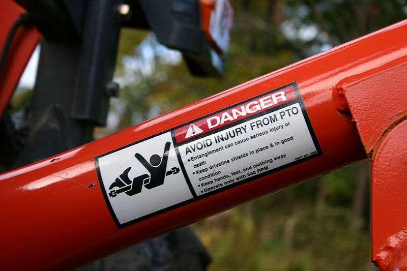 Tractor Pto Warning Decals : Warning labels