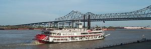 The paddleboat Natchez, on the Mississippi Riv...