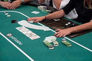 Poker dealer player who deals cards in poker