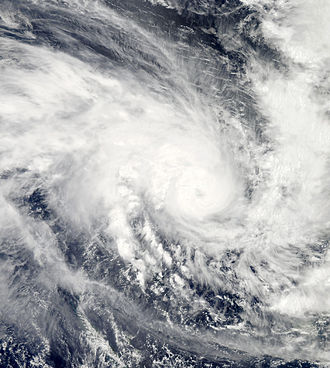 Cyclone Pam - Severe Tropical Cyclone Pam strengthening off the Santa Cruz Islands on March 11