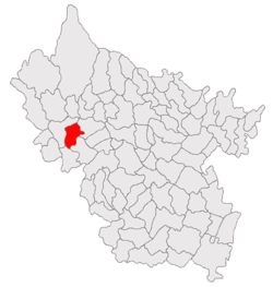 Location of Pănătău