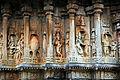 Panel relief depicting the Dashavatara (ten avatars) of the god Vishnu in the Vidyashankara temple at Shringeri.jpg