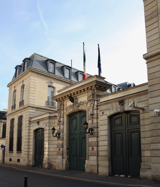 Ambassade D U0026 39 Italie En France  U2014 Wikip U00e9dia