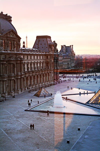 File:Paris sunset from the Louvre window.jpg