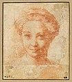Parmigianino - Tête de femme, vue de face, INV 6523, Recto.jpg