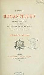 Alphonse Parran: Honoré de Balzac