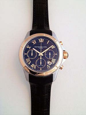 Raymond Weil - Parsifal 7260-sc5-00208 – Automatic chronograph -Two tone on leather strap