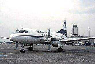Partnair - Partnair Convair CV-580 at EuroAirport Basel–Mulhouse–Freiburg in 1987