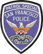 Patch of the San Francisco Police Department Patrol Special.png