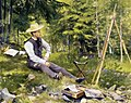 Paul Gustave Fischer - The Artist Painting En Plein Air.jpg