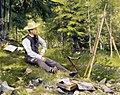 Paul Gustave Fischer - The Artist Painting En Plein Air.jpg