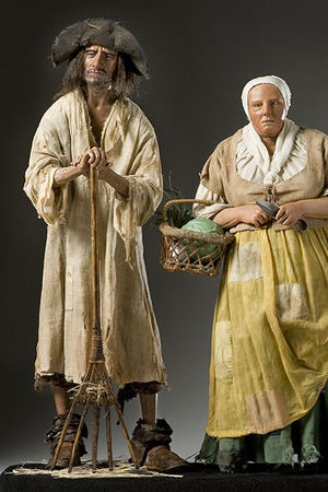 Peasant - Portrait sculpture of 18th-century French peasants by artist George S. Stuart, in the permanent collection of the Museum of Ventura County, Ventura, California