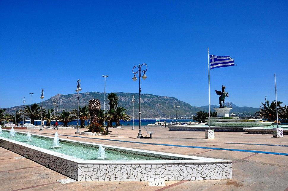 Pegasus Square in New Corinth