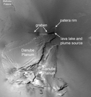 Pele (volcano) - Highest resolution image of Pele taken by Voyager 1 in March 1979